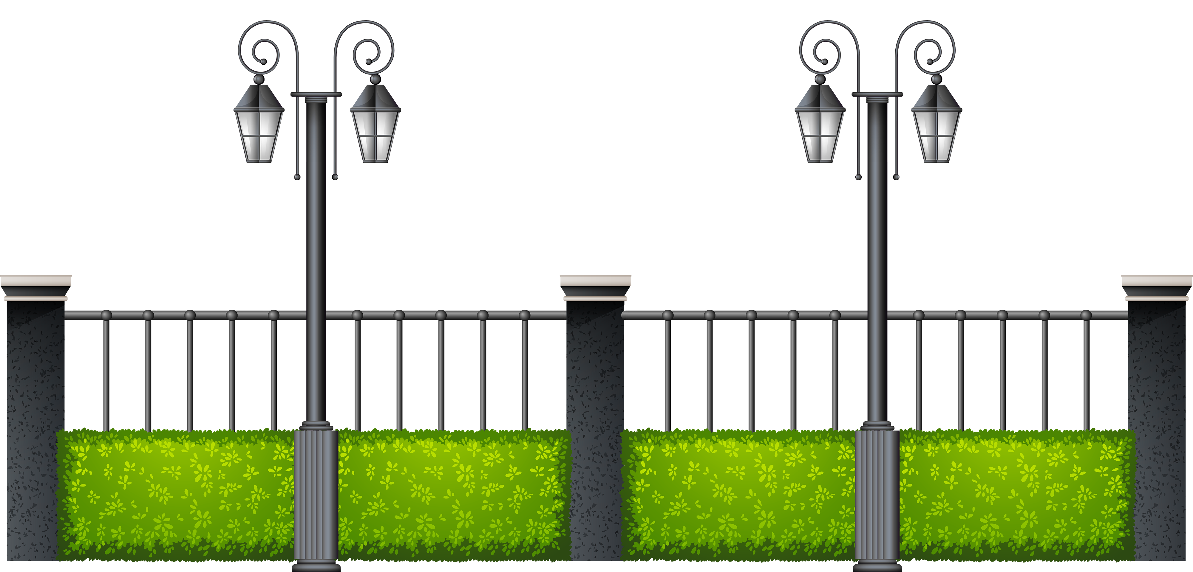 Highway car clipart banner library stock Metal Fence with Streetlights PNG Clipart - Best WEB Clipart banner library stock