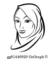 Hijab clipart clip art transparent library Hijab Clip Art - Royalty Free - GoGraph clip art transparent library