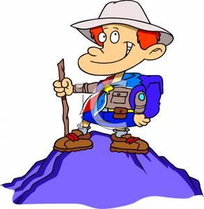 Hiking cartoons clipart image free Cartoon Boy Hiking - Royalty Free Clipart Picture image free