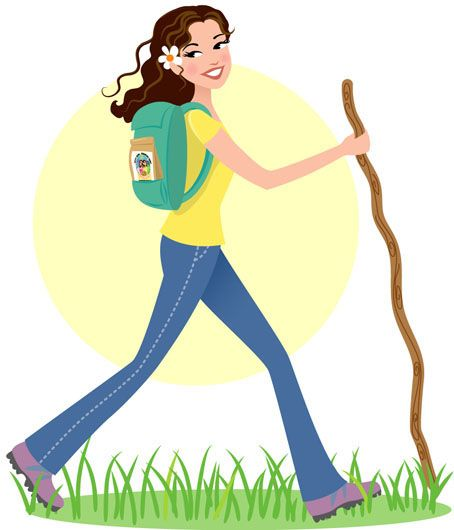 Hiking cartoons clipart clipart library download Girl Hiking Clipart - Clipart Kid   Crafty Kiddos   Hiking ... clipart library download