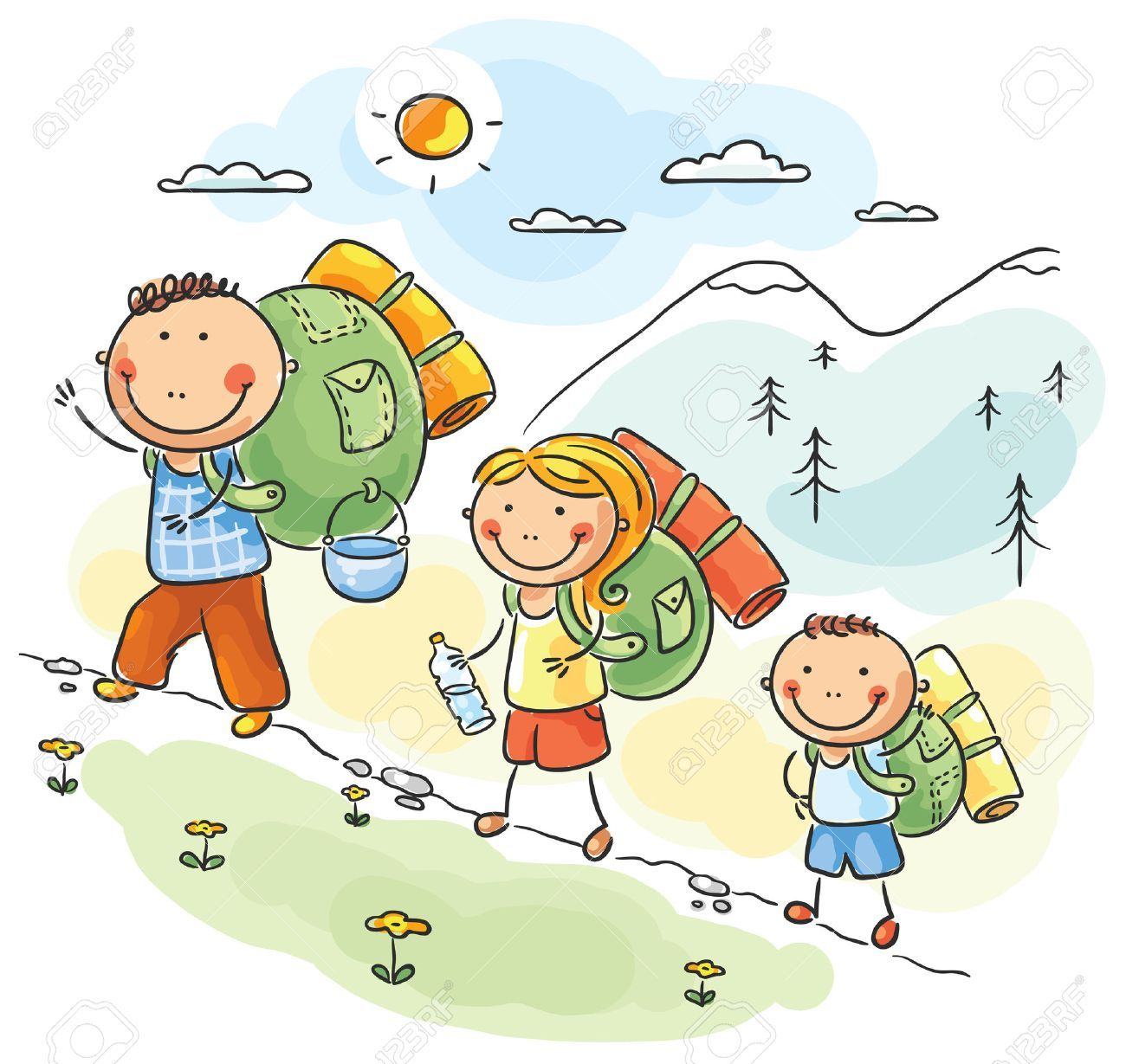 Hiking images clipart picture royalty free Family hiking clipart 2 » Clipart Portal picture royalty free