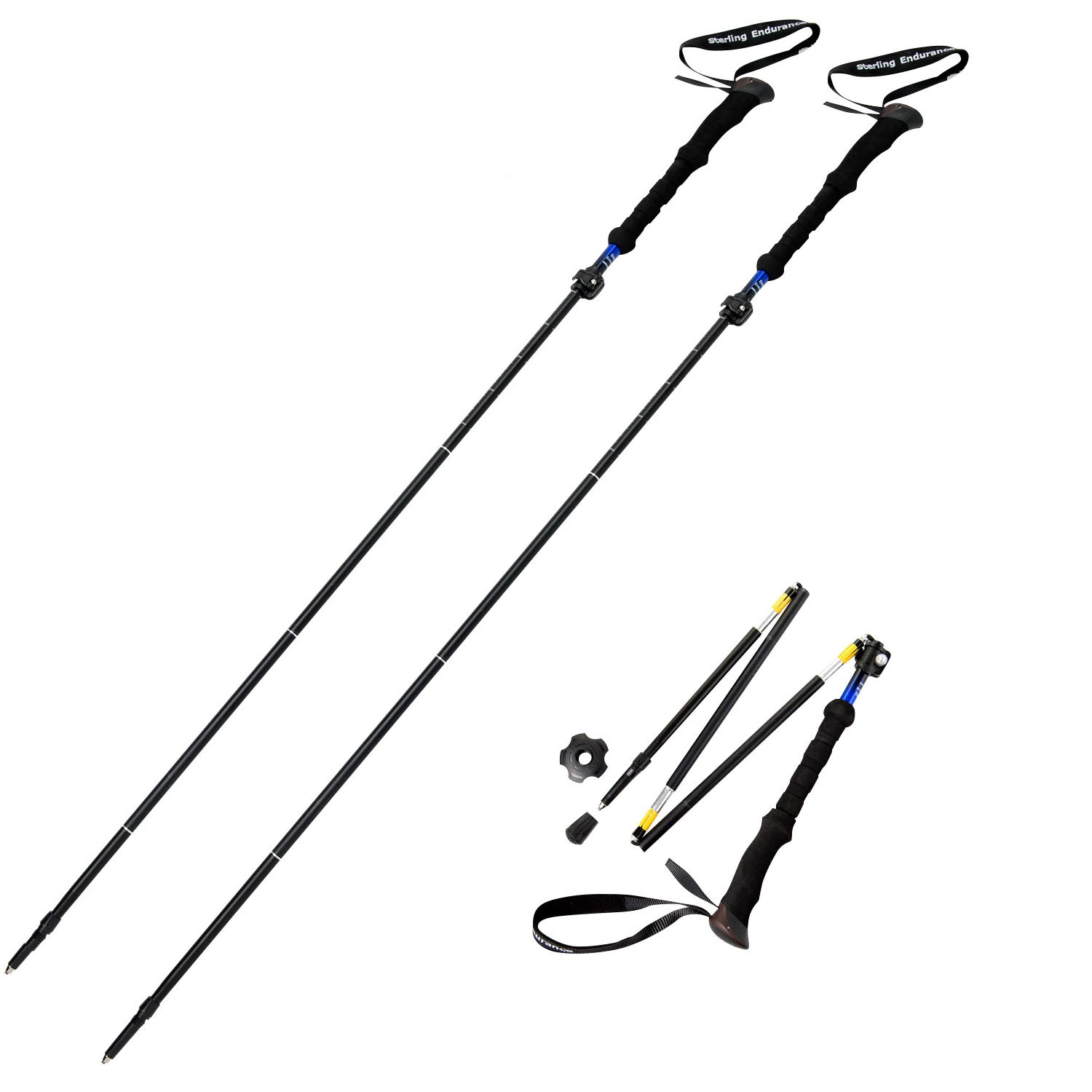 Hiking poles clipart graphic black and white download Sterling Endurance Trekking Poles/Collapsible to 13 1/2\