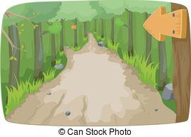 Hiking trail clipart svg transparent download Hiking Trail - Illustration | Clipart Panda - Free Clipart ... svg transparent download