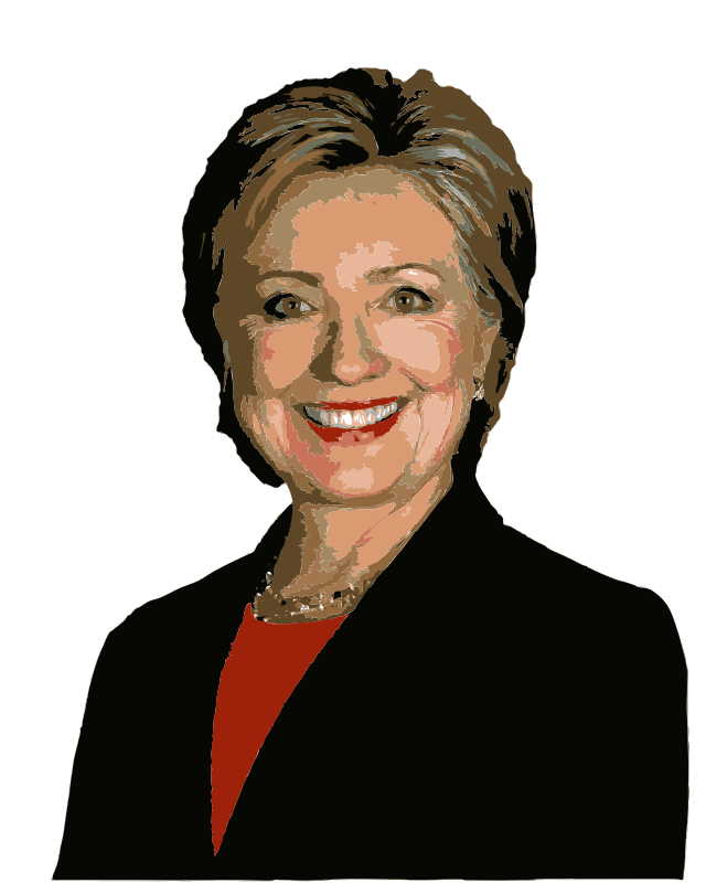 Hillory clipart picture stock Free Clipart: Hillary Clinton Colorized | wanglizhong picture stock