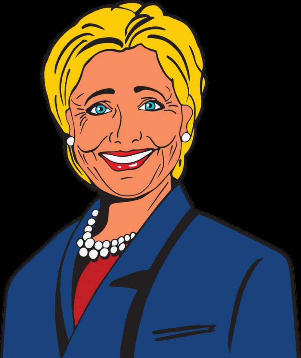 Hillory clipart graphic library Hillary Clinton Vector Clipart free photo | Image Finder graphic library