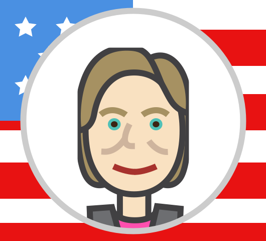 Hillory clipart graphic The Hillary Clinton Approach to Content Marketing | Scripted graphic