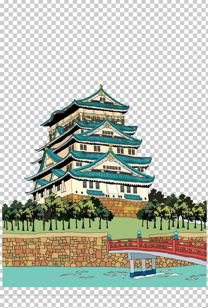 Himeji castle clipart image library download Himeji Castle Japanese Castle Illustration PNG, Clipart ... image library download