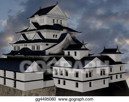 Himeji castle clipart svg royalty free library Stock Illustration - Himeji castle. Clipart gg4495080 - GoGraph svg royalty free library