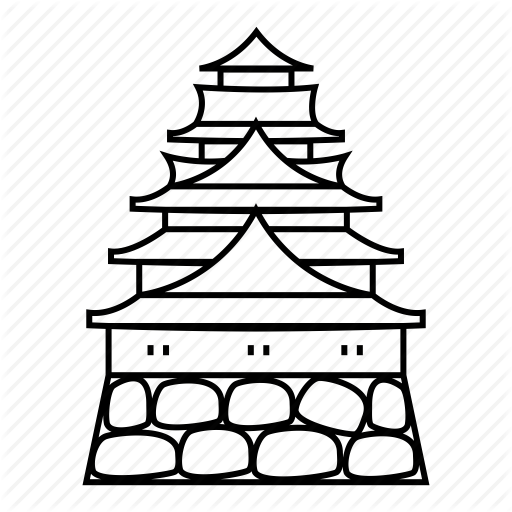 Himeji castle clipart banner royalty free Christmas Black And White clipart - Castle, Line, Font ... banner royalty free