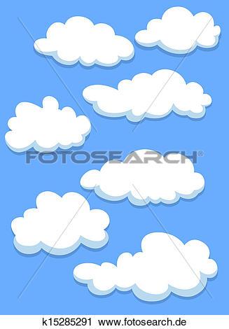 Himmel clipart svg stock Clipart - karikatur, weiße wolken, auf, himmel k15285291 - Suche ... svg stock