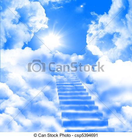 Himmel clipart clip free Sky cloud stairway fantasy high blue abstract Illustrations and ... clip free