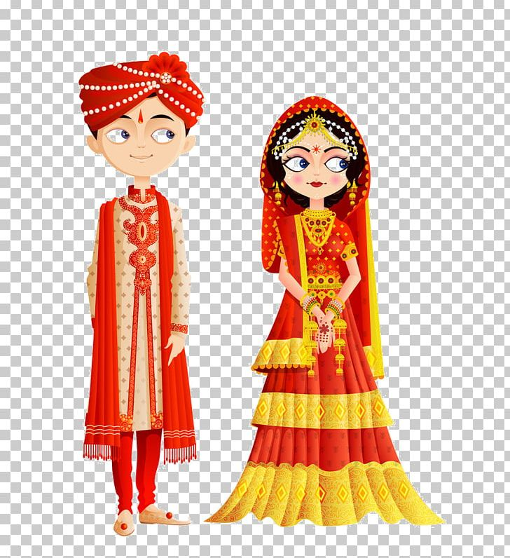 Hindu wedding invitation clipart graphic free library Wedding Invitation Weddings In India Bride Hindu Wedding PNG ... graphic free library