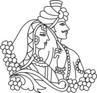 Hindu wedding clipart black and white clipart library library Hindu wedding clipart black and white 3 » Clipart Station clipart library library