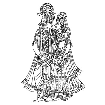 Hindu wedding clipart black and white vector freeuse stock Free Indian Wedding Line Art, Download Free Clip Art, Free ... vector freeuse stock