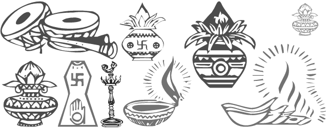 Hindu wedding clipart fonts free download png royalty free download All in one font containing symbols of Indian weddings ... png royalty free download