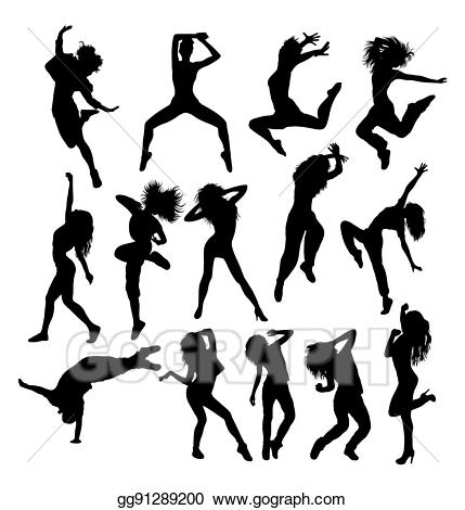 Hip hop dance silhouette clipart picture royalty free download EPS Vector - Hip hop dancing silhouettes. Stock Clipart ... picture royalty free download