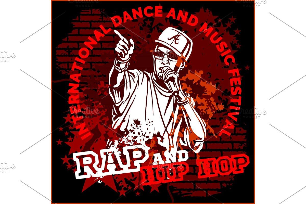 Hip hop graffiti cliparts png freeuse download Rap hip hop graffiti - vector poster png freeuse download