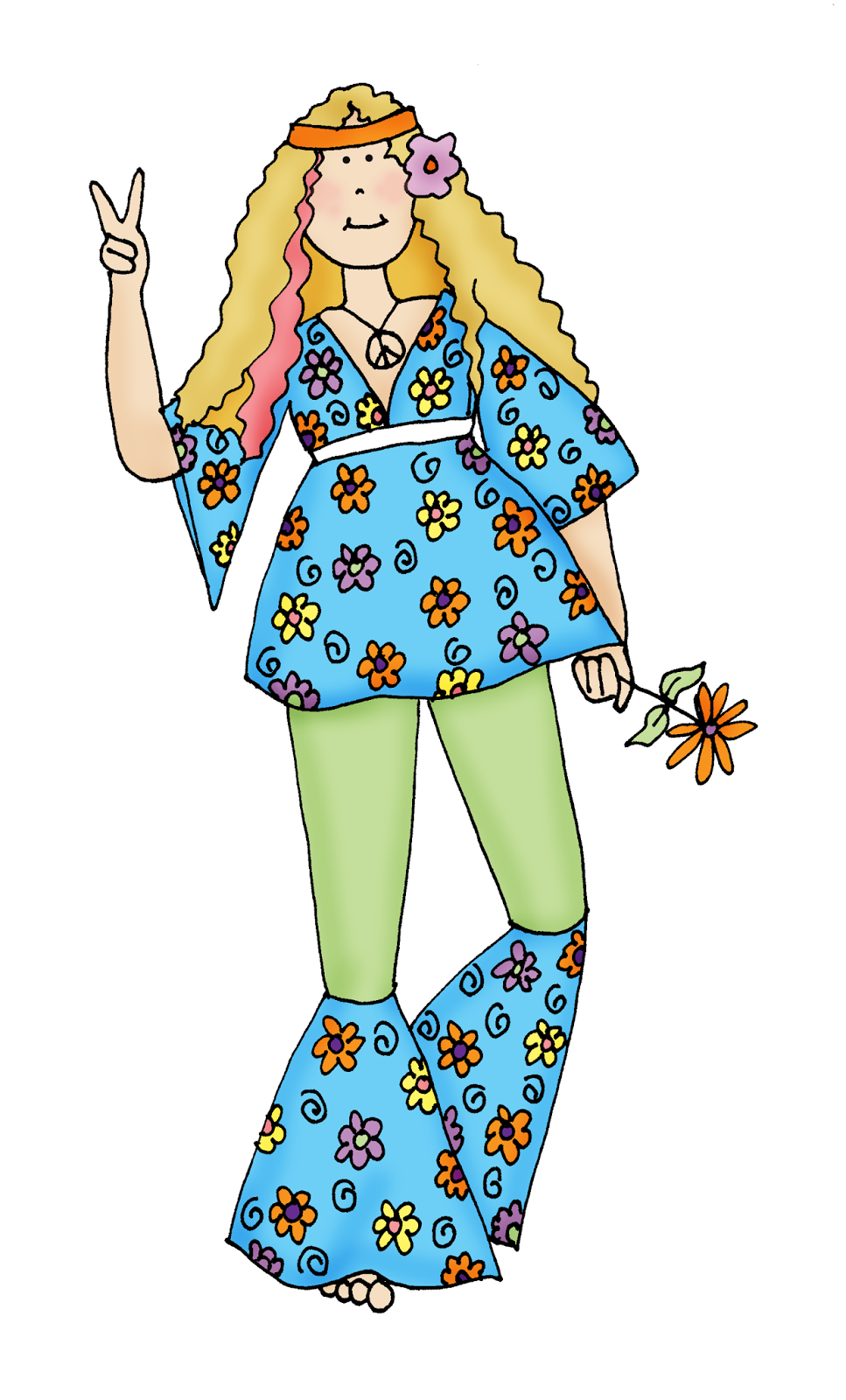 Hippie chick clipart graphic download Free Dearie Dolls Digi Stamps | Cards - Digital Stamps ... graphic download