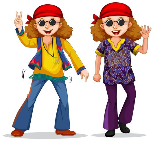 Hippie style hat clipart png freeuse download Hippy man on white background - Download Free Vectors ... png freeuse download