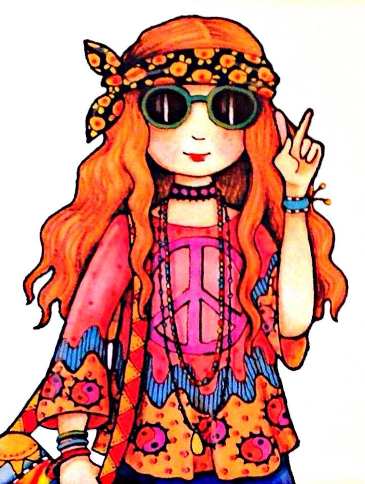 Hippie style hat clipart clipart freeuse stock Hippie Fashion Style - We\'re pros at photo to canvas ... clipart freeuse stock