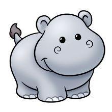 Hippo animals cliparts