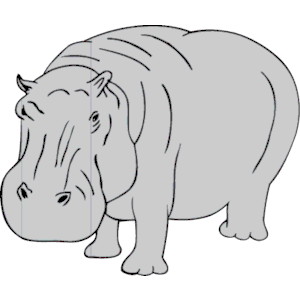 Hippo clipart png freeuse library Hippopotamus clipart hippo clip art vector download ... png freeuse library