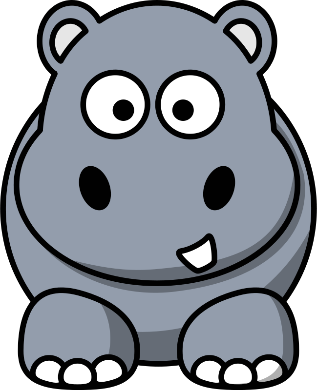 Hippo clipart svg transparent stock Free Clipart: Cartoon hippo | StudioFibonacci svg transparent stock