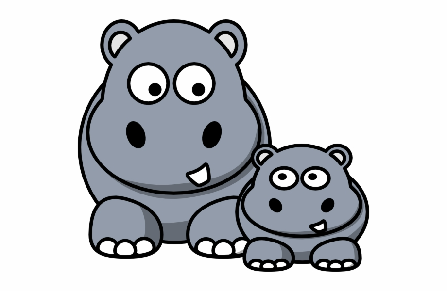 Hippo clipart graphic freeuse library Cute Baby Hippo Clipart Kid - Hippos Clipart Free PNG Images ... graphic freeuse library