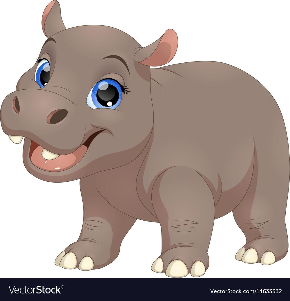 Hippo vector clipart clip free library Cute funny hippo clip free library