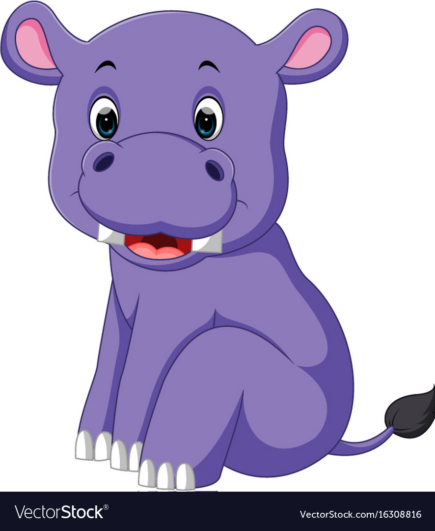 Hippo vector clipart clipart library library Cartoon cute baby hippo clipart library library