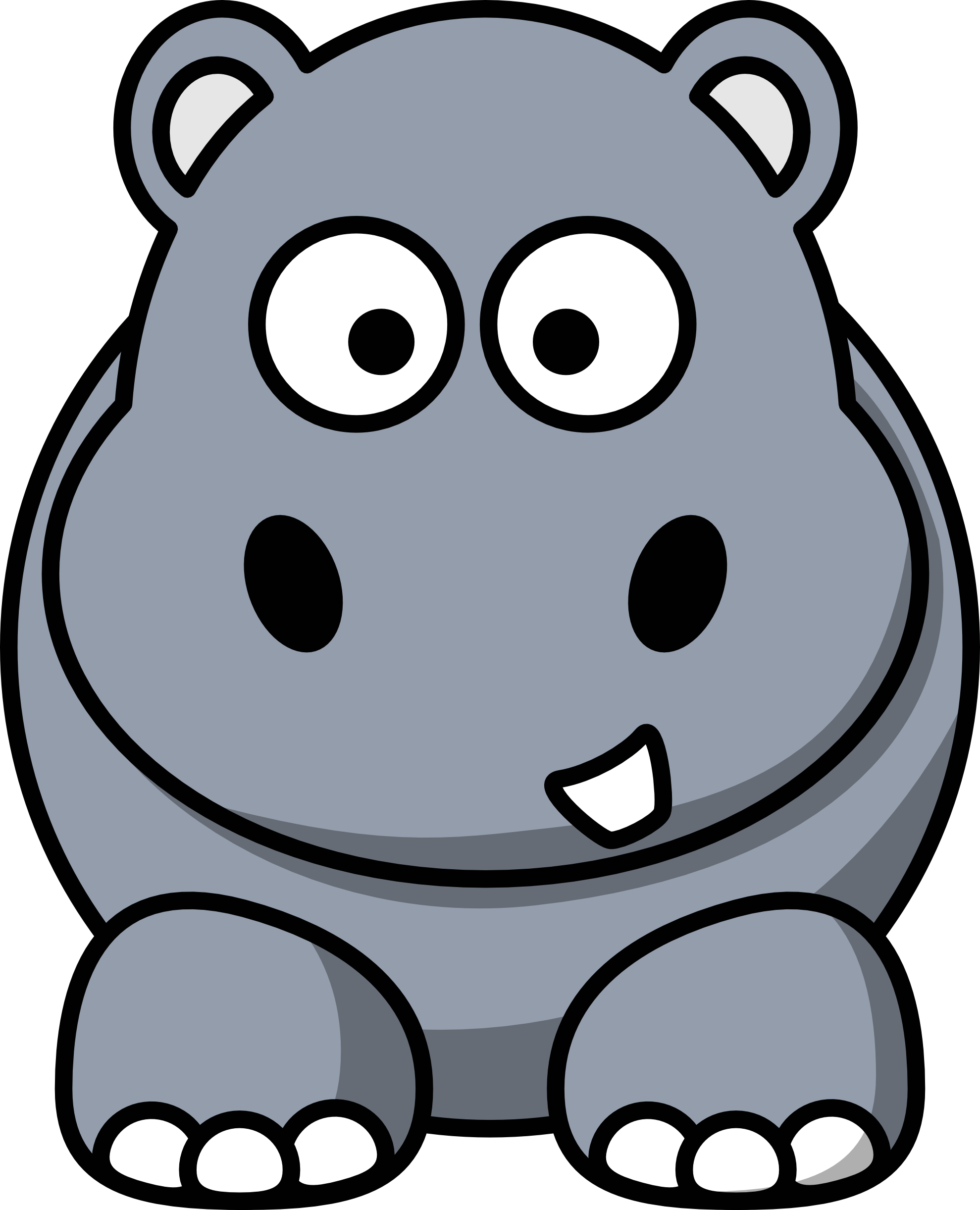 Hippo vector clipart clipart freeuse download Hippo vector graphics clipart image #37243 clipart freeuse download