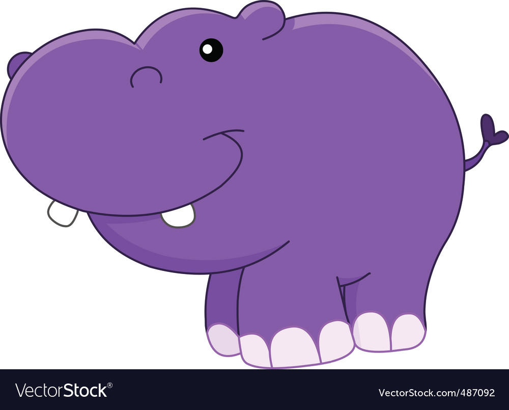 Hippo vector clipart svg black and white download Baby hippo svg black and white download