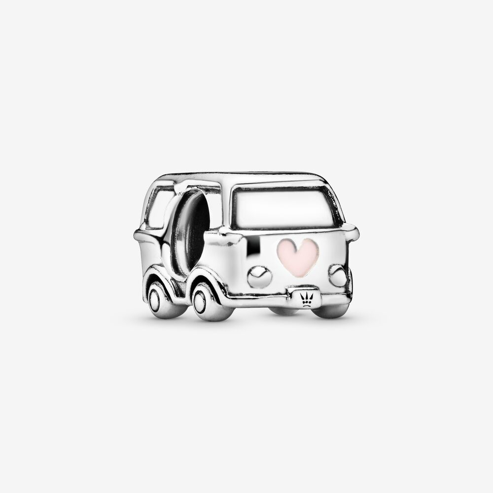 Hippy van only metallic golds and silver clipart clip art royalty free Camper Van Charm | Travel Charms clip art royalty free