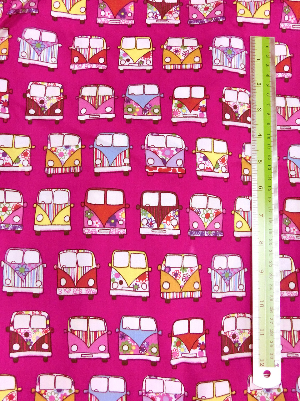 Hippy van only metallic golds and silver clipart banner black and white Retro Peace & Love Camper Van Fabric 100% Cotton - Pink banner black and white