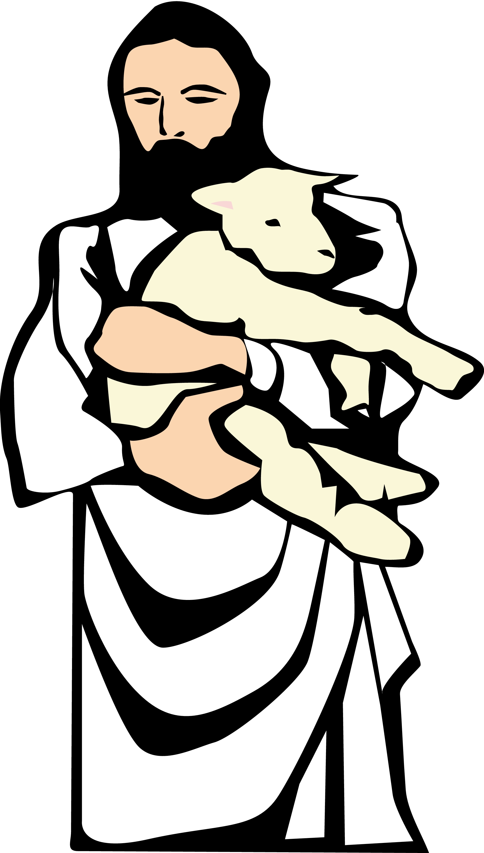 Hirte clipart picture royalty free Parable of the lost sheep clipart - ClipartFest picture royalty free