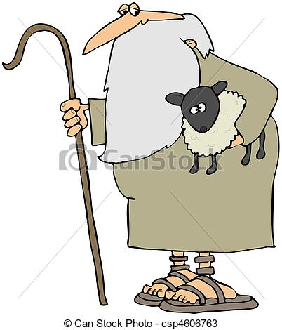 Hirte clipart banner transparent library Drawings of Shepherd Holding A Lamb - This illustration depicts a ... banner transparent library