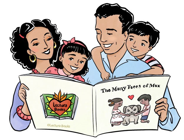Hispanic family clipart svg library download hispanic-family-reading-clipart-8 - Bancroft Elementary School svg library download