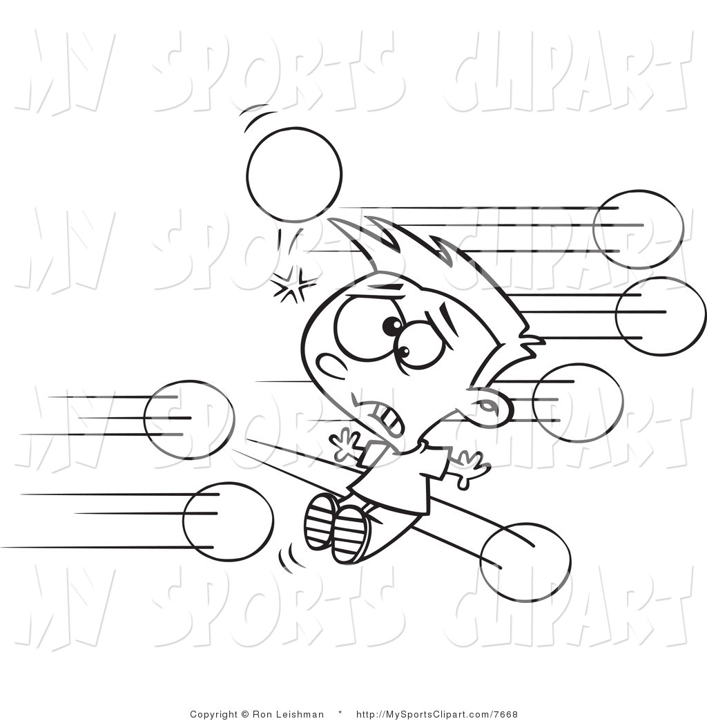 Hit clipart black and white free stock Sports Clip Art Of A Black And White Boy B #106810 ... free stock