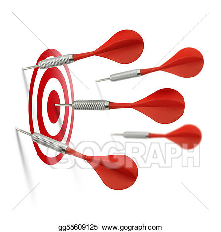 Hits clipart jpg free download Stock Illustration - Only one dart hits the target. Clipart ... jpg free download