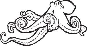 Hobotnica clipart banner stock Coloring Book Octopus Clip Art at Clker.com - vector clip ... banner stock
