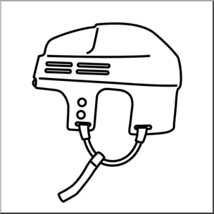 Hockey helmet clipart