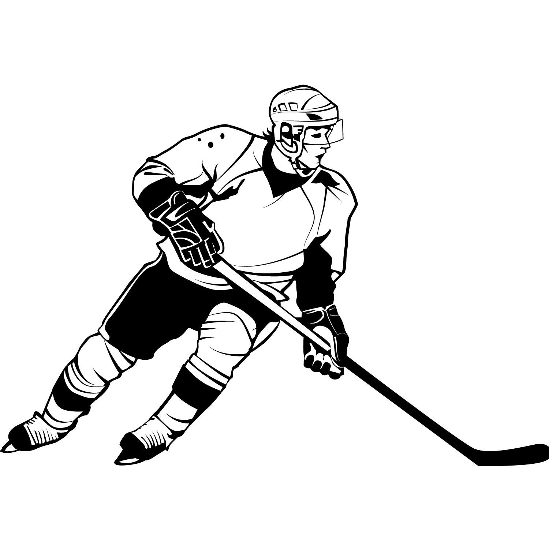 Hockey player clipart free vector stock 71+ Hockey Clipart   ClipartLook vector stock