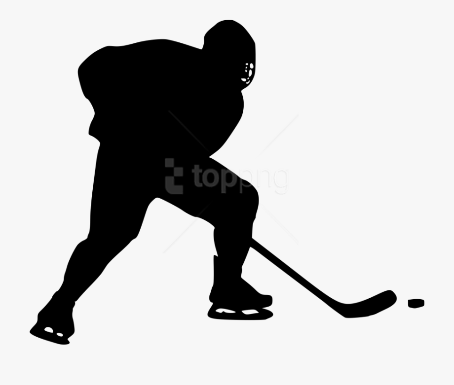 Hockey player silhouette clipart black and white library Free Images Toppng - Hockey Player Silhouette Png #1499878 ... black and white library