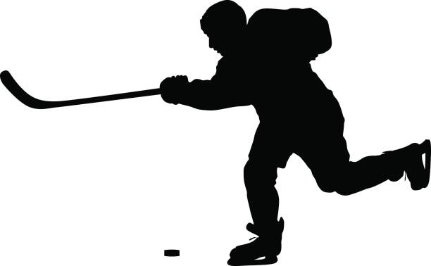 Hockey player silhouette clipart vector black and white download Hockey player silhouette clipart 5 » Clipart Station vector black and white download
