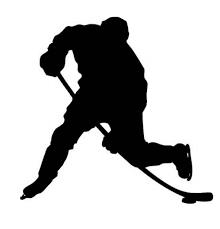 Hockey player silhouette clipart image black and white stock Image result for black silhouette hockey player | Kids Rooms ... image black and white stock
