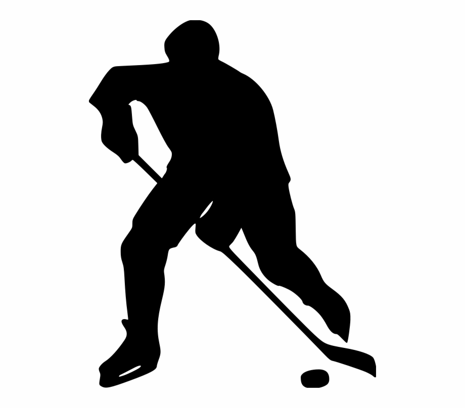 Hockey player silhouette clipart vector freeuse library Hockey-player File Size - Hockey Player Silhouette Clip Art ... vector freeuse library