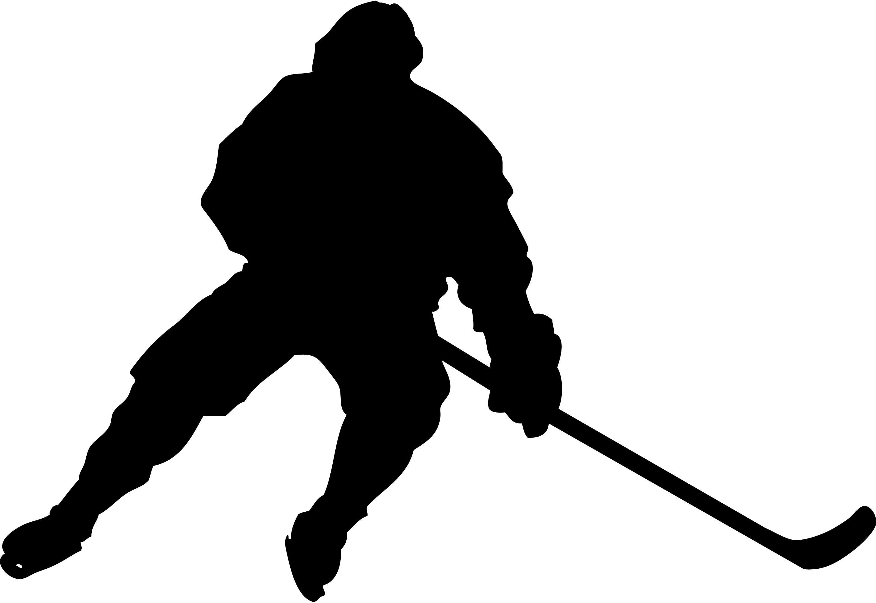 Hockey player silhouette clipart picture freeuse stock Free Hockey Player, Download Free Clip Art, Free Clip Art on ... picture freeuse stock