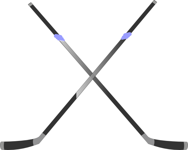 Hockey sticks clipart image black and white stock Double Hockey Stick Clip Art at Clker.com - vector clip art ... image black and white stock