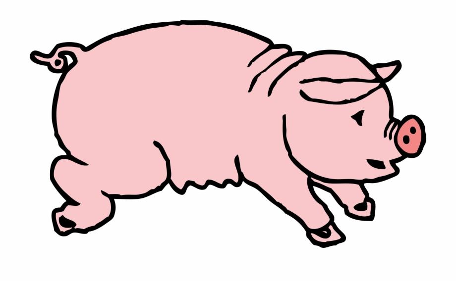 Hog clipart banner black and white download Custom Cartoon Pig Throw Blanket - Clip Art Hog Free PNG ... banner black and white download