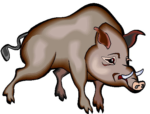 Hog clipart svg black and white stock Free Boar Cliparts, Download Free Clip Art, Free Clip Art on ... svg black and white stock